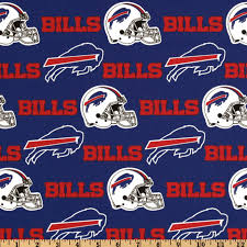 zoom nfl cotton broadcloth buffalo bills red royal