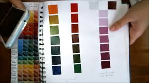 M Graham Color Chart M Graham Gouache How To Make A Color Chart More Youtube