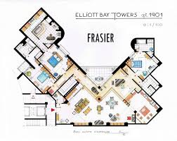 Incredibly Detailed Floor Plans Of The Most Famous TV Show HomesFrasier