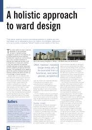 Isolation Ward Design Pdf A Holistic Approach To Ward Design