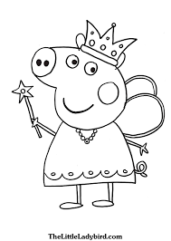 Peppa Pig Coloring Book L Pages For Children Learning Rainbow Cartoon Coloring Book L