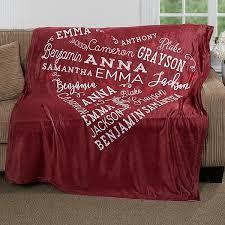 Personalized Fleece Throw Blankets