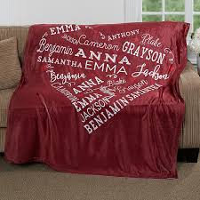 personalized fleece blanket close to her heart 16802