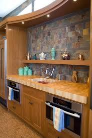 maple end grain wet bar wood countertop