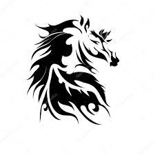 Koně Tetování Stock Fotografie Terbrana1 56250617