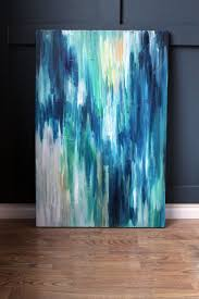 24x36 Original Abstract Painting. Peacock IV
