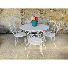 chairs and vintage garden table