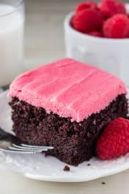 chocolate cake with frosting. Plain With Chocolate Cake With Raspberry Frosting This Rich Super Fudgy Chocolate  Cake Has A Deep On With Frosting W