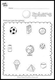 sphere worksheets for kindergarten kindergarten math 3d shapes ...