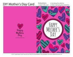 Sample template for mothers day lets you download a free printable sample to give you an idea of the amazing template for mothers day is a one fold greeting card design with a pinkish color scheme. Mother S Day Printable Coloring Card Pdf Printable Card To Color For Mom Mum Teaching Resources