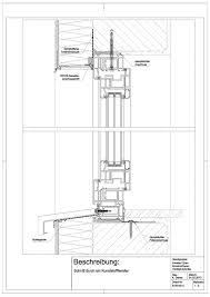 B 05 0014 Schnitt Durch Ein Kunststofffenster Architectural Plans