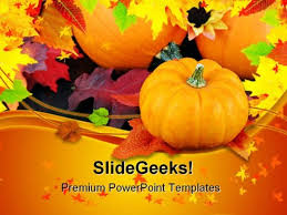 Pumpkins Daisies And Fall Nature Powerpoint Themes And Powerpoint