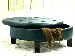 black leather ottoman with storage quirky tufted bench marvelous round coffee table st