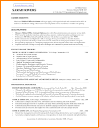 Medical Assistant Resume Templates 100 medical assistant resume objectives new hope stream wood 23