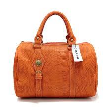 Coach Embossed Medium Orange Luggage Bags 21641