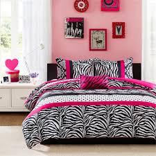bedroom with zebra bedding com mi zone reagan comforter set pink