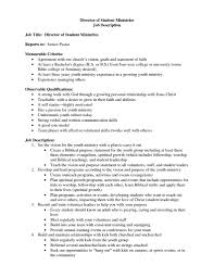 Youth Pastor Resumes Free Resume Example And Writing Download