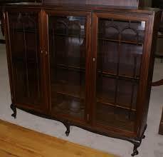 antique bookcase mahogany bookcases for glass door design 3