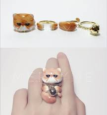 unusual gifts for cat lovers. Unique Gifts Brass U0026 Enamel Stacked Cat Ring Set Are You Swooning Yet Start Swooning Inside Unusual Gifts For Cat Lovers T