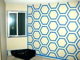 hexagon wall art paint design for wall paint tape design wall paint design ideas with tape