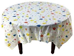 5 piece printing plastic table covers disposable party tablecloths fish contemporary tablecloths by blancho bedding