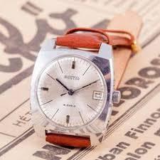 pobeda mens watch vintage mens watch wind up mens watch simple brown leather watch vintage watch wind up watch wostok watch russian men s