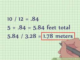 Conversion Chart Meters To Feet How To Convert Feet To Meters With Unit Converter Wikihow