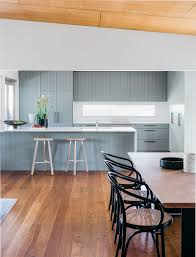 Wooden Flooring For Kitchens Kitchen Color Inspiration 12 Shades Of Blue Cabinets Contemporist