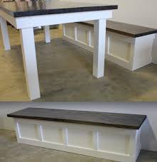 custom built-in wall bench and matching James+James table from www .