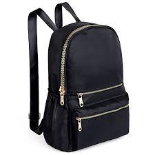 Amazon.com   Women Backpack Black Nylon Daypack Purse Quilted ... & UTO Fashion Backpack Oxford Waterproof Cloth Nylon Rucksack School College  Bookbag Shoulder Purse Adamdwight.com