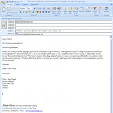Email Template For Sending Resume And Cover Letter Parlo Within For
