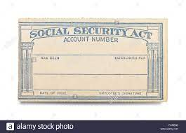 Social Security Act Card with Copy ...