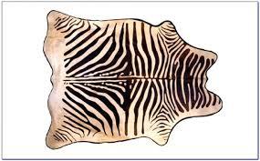 faux zebra rug uk