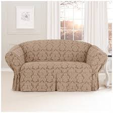 middleton loveseat cover in brown with chic pattern for home furniture ideas