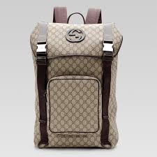gucci book bags for men. gucci backpack with interlocking g detail 246321 in beige/brown book bags for men a