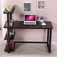 computer desk for home office. Panana Black Computer Desk Home Office Furniture PC Table Study Workstation With Bookcase Shelf For