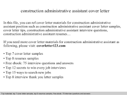 construction administrative assistant cover letter in this file you can ref cover letter materials for construction administrative assistant resume