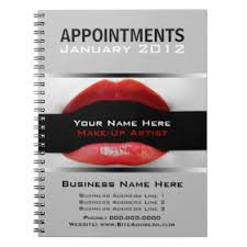 makeup artist appointment book