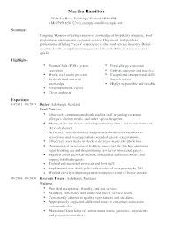 bartender objective bartender resume objective examples server s and templates for