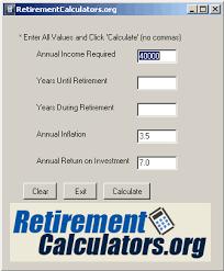 Free Retirement Calculator Retirement Calculator Free Retirement Calculator Download