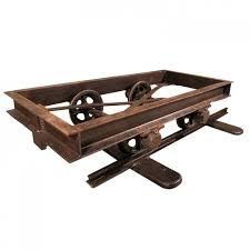 mine cart coffee table ox cart coffee table uk mcclanmuse co regarding ox cart