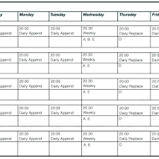 Server Schedule Template Restaurant Server Schedule Template Restaurant Employee