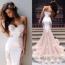 custom made sweetheart neck mermaid sweep train lace wedding dress