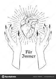 сердце человека в изящные женские руки изолированы наклейка печати