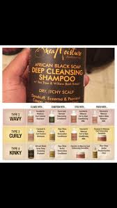 Shea Moisture Hair Type And Product Recommended Chart In