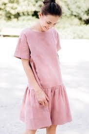 Light Pink Linen Dress Linen Dress Midi Dress Elegant Dress Washed Linen Dress
