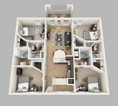 perfect creative 3 4 bedroom apartments floor plans lux13 apartments