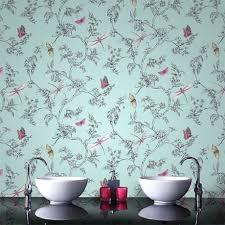 bathroom wallpaper. Graham \u0026 Brown - Nature Trail Duck Egg Bathroom Wallpaper 33-002 I