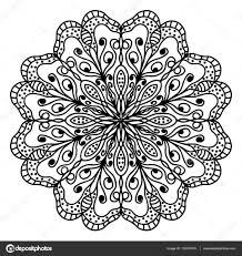 Mandala Kleurplaat Pagina Doodle Stockvector Origaz 132787410