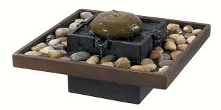Lovely Square Shaped Tabletop Indoor Water Fountains With Stones Rivers As  Neutral Interior Garden Ideas